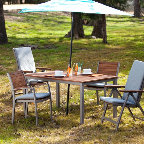 Mandalay Outdoor Rectangular Table - Gray