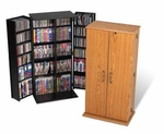 Tall Locking CD DVD Cabinet
