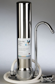 Doulton HCS Stainless Steel Countertop<br>Water Filter with 1 Ultracarb