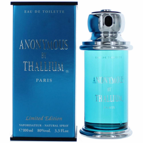 Anonymous by Thallium, 3.4 oz Eau De Toilette Spray for Men