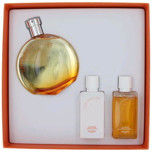 Eau des Merveilles by Hermes, 3 Piece Gift Set for Women