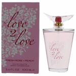 Fresh Rose & Peach by Love2Love, 3.4 oz Eau De Toilette Spray for Women
