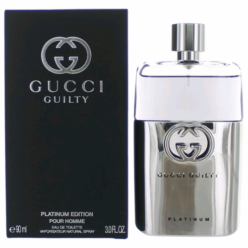 Authentic Gucci Guilty Platinum Cologne By Gucci 3 Oz Eau