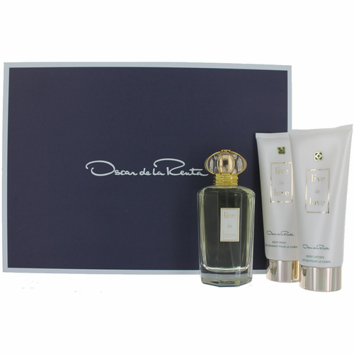 Live in Love by Oscar De La Renta, 3 Piece Gift Set for Women