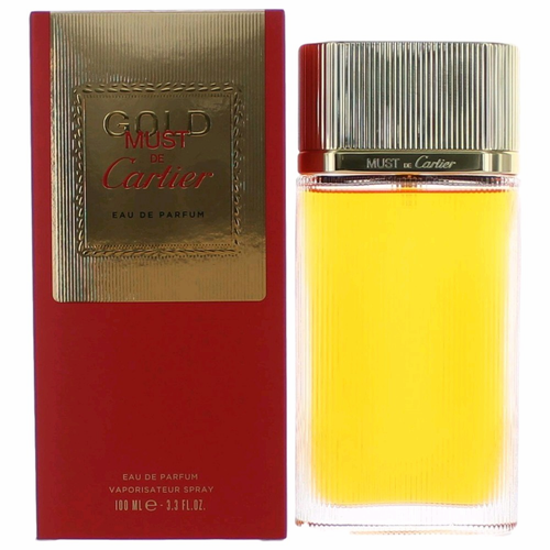 Must De Cartier Gold by Cartier, 3.4 oz Eau De Parfum Spray for Women