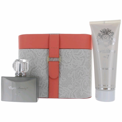 Authentic No. 7 Perfume By English Laundry 3 Piece Gift Set For Women | The Perfume Spot