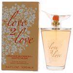 Orange Blossom & White Musk by Love2Love, 3.4 oz Eau De Toilette Spray for Women