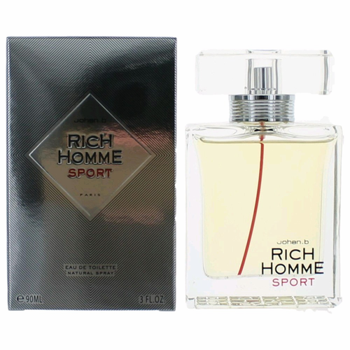 Rich Sport by Johan B, 3 oz Eau De Toilette Spray for Men