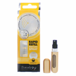 Travalo by Travalo, Gold Refillable Travel Perfume Bottle Atomizers