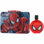 Ultimate Spiderman by Marmol & Son, 3.4 oz Eau De Toilette Spray for Boys with Metal Lunch Box