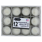 Unscented 1.5 oz Glass Jar Votives Candles, 12 pack 18 oz Total - Unscented