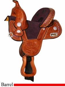 "** SALE **10.5"" Circle Y Tammy Fischer Treeless Youth Barrel Racing Saddle 1310Y *free pad or cash discount*"