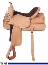 "10"" King Series Cowboy Roughout Saddle with Serpentine Tooling 182"