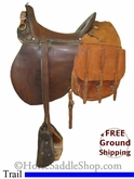 "11"" Used McLellan Modified US Cavalry Saddle usmc2603 *Free Shipping*"