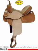 "12"", 13"", 14"", 15"", 16""  Basket Tooled Barrel Saddle by Alamo 1284 1285 1286"