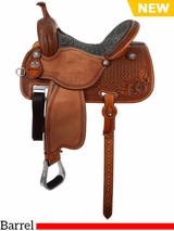 "** SALE ** 12.5"" to 15.5"" Martin Saddlery Sherry Cervi Crown C Custom Barrel Racer 97-C1"