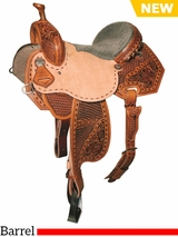 "** SALE ** 12.5"" to 15.5"" Reinsman Marlene McRae Special EFFX Barrel Saddle 4242"