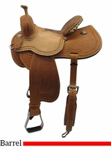 "** SALE ** 12.5"" to 15.5"" Reinsman Marlene McRae Special EFFX Barrel Saddle 4243"