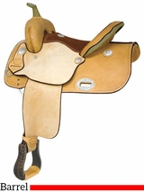 "** SALE ** 12.5"" to 15"" Billy Cook EP Racer Barrel Saddle 291268"