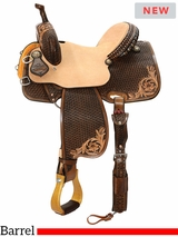 "12.5"" to 16"" Reinsman Team Camarillo Barrel Racer 4234 w/Free Pad"