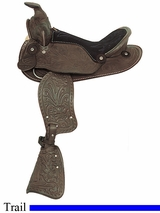 "12"" American Saddlery Happy Trails Pony Saddle am161-162"