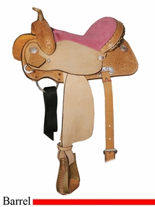"** SALE **12"" Circle Y Little Cowpoke Youth Barrel Racer Saddle 3002"