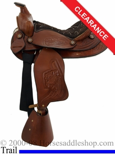 "SOLD 2014/08/18 $300 12"" Dakota Chocolate Pony Saddle 950sch"