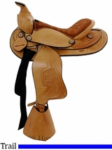 "12"" Dakota Light Oil Pony Saddle 950slo"