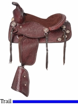 "12"" King Series Jr. Plainsman II Pony Saddle 8500"
