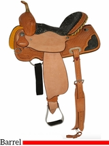 "** SALE ** 12"" to 16"" Circle Y Serenity Barrel Saddle 2204 w/Free Pad"