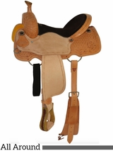 "12"" to 16"" Circle Y Chocolate Suede All Around Saddle 2726 w/Free Pad"