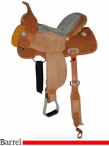 "** SALE ** 12"" to 16"" Circle Y Dreamer Barrel Saddle 2203 w/Free Pad"