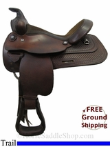 "12"" Used Circle Y Trail Saddle uscy3147 *Free Shipping*"
