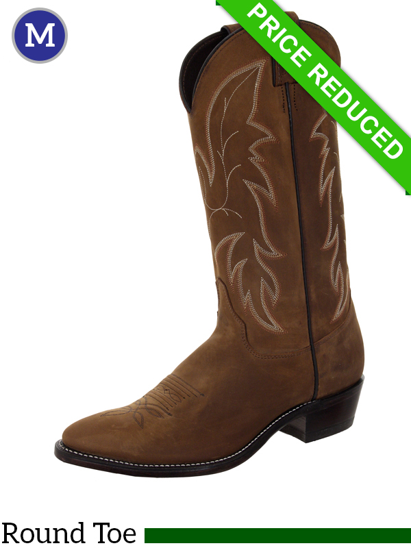 9D Wide Men's Justin Boots CLEARANCE
