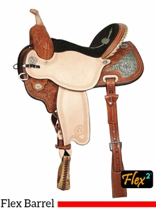 "** SALE ** 13"" to 17"" Circle Y Kelly Kaminski To The Max Flex2 Barrel Racer 1543 w/Free Pad"