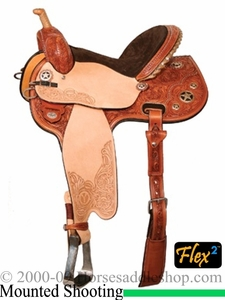 "** SALE **13"" to 16"" Circle Y Quick Shot Flex2 Mounted Shooting Saddle 2401 *free gift*"