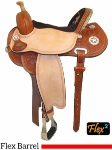 "13"" to 16"" Circle Y Lisa Lockhart Fast & Furious Flex2 Barrel Racer 1544 w/Free Pad"