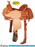 "13"" 13.5"" 14"" 14.5"" Reinsman Junior Roper Saddle, Reg or Wide Tree 4502"