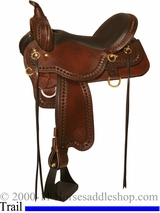 "DISCONTINUED 13"" to 17"" Circle Y Superide Tahoe Trail Saddle 3855"