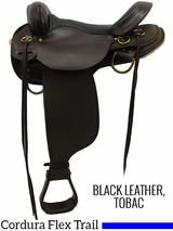 "13"" to 17"" High Horse by Circle Y Highbank Cordura Trail Saddle 6916"