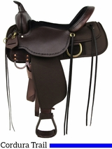 "** SALE ** 13"" to 17"" High Horse by Circle Y Driftwood Cordura Trail Saddle 6921"