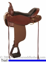 "13"" 14"" 15"" 16"" 17"" Cordura Trail Saddle 'Eldorado' High Horse by Circle Y 6915"