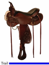 "13"" to 17"" Deer Creek High Horse Trail Saddle by Circle Y 6807"