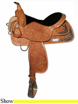 "13"" to 17"" Gladewater Show Saddle High Horse by Circle Y 6310"