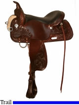 "** SALE ** 13"" to 17"" High Horse by Circle Y Mineral Wells Trail Saddle 6812"