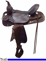 """** SALE ** 13"""" to 17"""" High Horse by Circle Y Mineral Wells Trail Saddle 6812"""