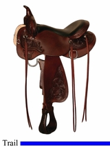 "13"" to 17"" Oyster Creek High Horse Trail Saddle by Circle Y 6808"