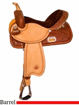 """13"""" to 17"""" Circle Y The Proven Rush Barrel Racer 3029 w/Free Pad"""