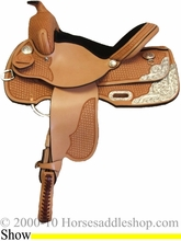 """13"""" 14"""" Rocking R Silver Youth Show Saddle rr1410"""