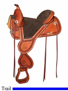 "** SALE **13.5"" to 17.5"" Circle Y Cloud Peak Tree Free Trail Saddle 1300 *free gift*"